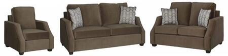 Hadley U2052-SLC 3-Piece Living Room Set with Stationary Sofa  Loveseat and Chair in
