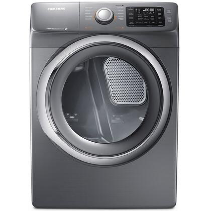 DV42H5200EP 7.5 cu. ft. Electric Dryer with 11 Drying Cycles  Sensor Dry  Reversible Door  Dryer Drum Light  Steam Drying Technology  Controls Display  Lint