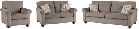 Aubrey U2031-SLC 3-Piece Living Room Set with Stationary Sofa  Loveseat and Chair in