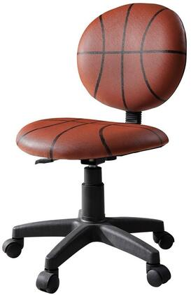 All Star Collection 59081 32 inch  - 37 inch  Youth Office Basketball Chair with Pneumatic Lift  Adjustable Height  Swivel Seat  Black Caster Base and Bycast PU Leather