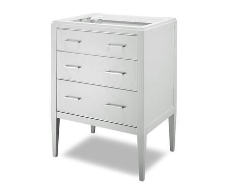 Manhattan V-MANHATTAN-24WT  24 inch  Vanity with Chrome Accented Drawers in