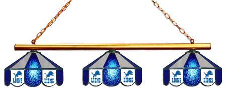 18-1118 Detroit Lions Glass 3 Shade Lamp