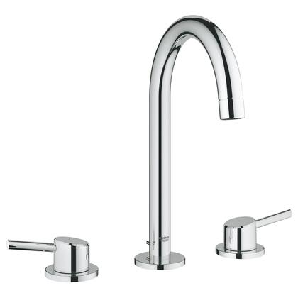 Grohe 2021700A Concetto 8 Widespread Two-Handle Bathroom Faucet, Large, Starlight