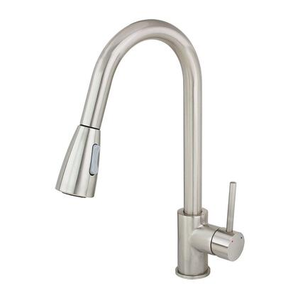 82h11-BN Kitchen Faucet Brushed Nickel Pull Out Dual Spray Single Handle Sink Tap