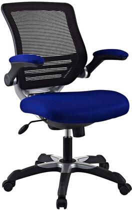 Edge Collection EEI-594-BLU Office Chair with Adjustable Seat Height  Flip-Up Arms  Casters  Tilt Tension Control  Mesh Backrest  Sponge Seat and Fabric Seat