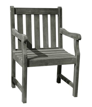 V1623 Renaissance Eco-Friendly Outdoor Garden Arm Chair  Hand-Scraped