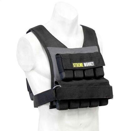 XM-3709 35 lbs. Commercial Micro Adjustable Weighted Vest with Incremental Weights  Easy Adjustable Velcro Strap and Commercial Material in