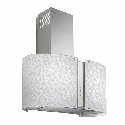 IS34MURMAYFLOWERLED 34 inch  Murano Mayflower Series Range Hood offer 940 CFM  4-Speed Electronic Controls  Delayed Shut-Off  Filter Cleaning Reminder  and in
