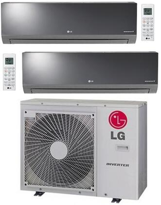 LMU30CHVPACKAGE6 Dual Zone Mini Split Air Conditioner System with 24000 BTU Cooling Capacity  2 Indoor Units  and Outdoor 704149