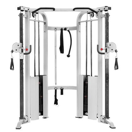 XM-7626-White Functional Trainer Cable Machine with Dual 200 lbs Weight Stacks in