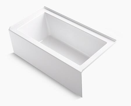 Underscore K-1957-RA-0 60 inch  x 32 inch  Alcove Bath with Integral Apron  Integral Flange and Right-Hand Drain in