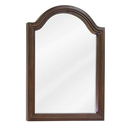 MIR029D-60 Bath Elements 22 inch  x 30 inch  Walnut Compton reed-frame Mirror with Beveled