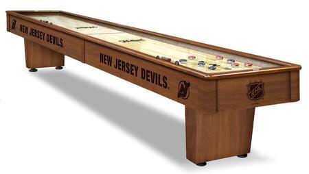 SB12NJDevl New Jersey Devils 12' Shuffleboard