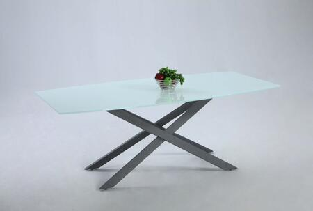 JACKIE-DT JACKIE DINING Tempered Starphire Super White Glass Table Top with Black Metal