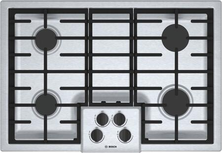 Bosch NGM5056UC 500 Series 30 Stainless Steel 4 Burner Gas Cooktop