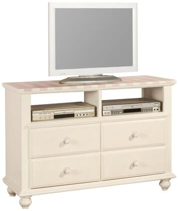 11043 Zoe White TV Console with Pink Striped 263751