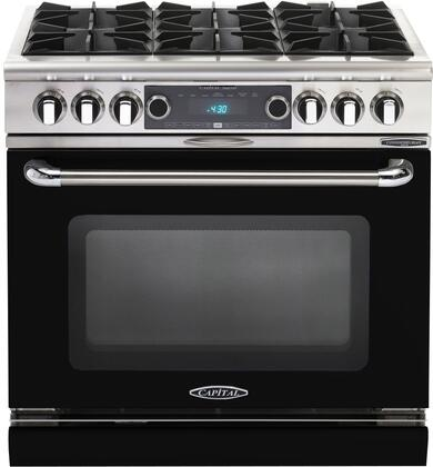 COB366KN 36 inch  Connoisseurian Series Freestanding Dual Fuel Electric Self-Cleaning Range with 4 Open Burners  4.6 Cu. Ft. Capacity  Flex Roller Racks  and