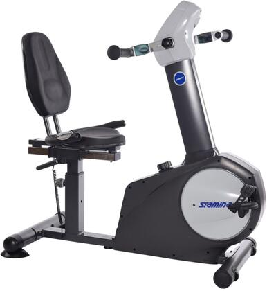 Elite Collection 15-9122 Total Body Recumbent Bike with 8 Levels Adjustable Magnetic Resistance  Heart Rate Sensors  Multi-Function Electronic Display and