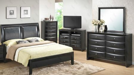 G1500ATBCHDMTV 5 Piece Set including Twin  Size Bed  Chest  Dresser Mirror and Media Chest  in