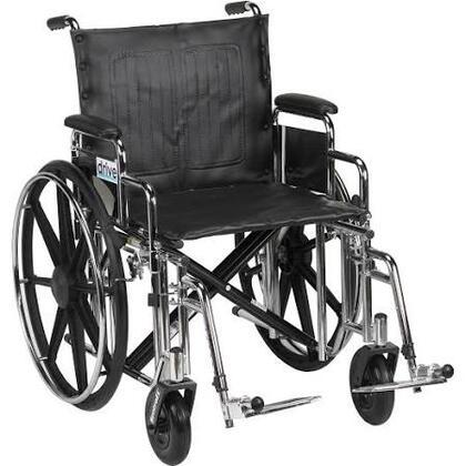 std20dda-sf Sentra Extra Heavy Duty Wheelchair  Detachable Desk Arms  Swing Away Footrests  20