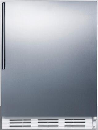 FF6BISSHVADA 24 inch  ADA Compliant Compact Refrigerator with 5.5 cu. ft. Capacity  Adjustable Shelves  Crisper  Door Storage and Interior Lighting: Stainless Steel