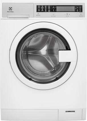 "White Compact Front Load Laundry Pair with EFLS210TIW 24"""" Washer  EFDE210TIW 24"""" Electric Dryer and 2 EPWD210TIW"" 794330"