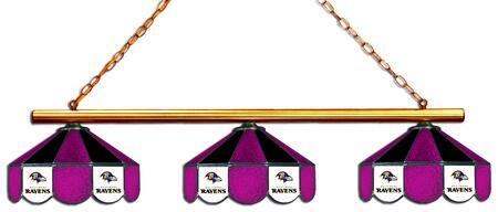 18-1125 Baltimore Ravens Glass 3 Shade Lamp