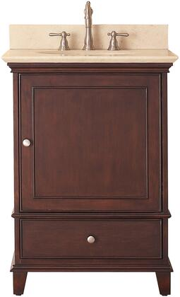 Windsor Collection WINDSOR-VS24-WA-B 24 inch  Sink Vanity with Galala Beige Marble Top  Undermount Sink  Soft-Close Door and Soft-Close Drawer in Walnut