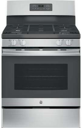 GE JGB645SEKSS 30 Freestanding Gas Range with 5 Cu. Ft. Oven Capacity and 4 Sealed Burners