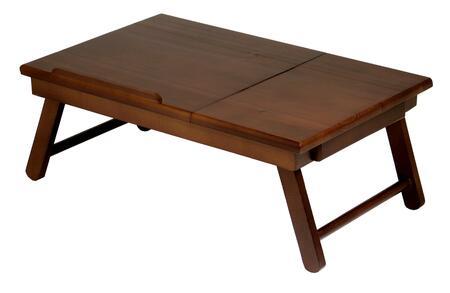 94623 Alden Lap Desk  Flip Top with Drawer  Foldable Legs in Antique