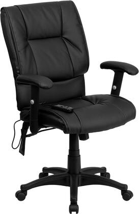 BT-2770P-GG Mid-Back Massaging Black Leather Executive Office