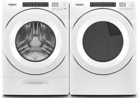 White Front Load Laundry Pair with WFW5620HW 27