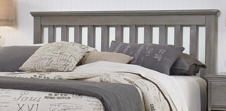 Vintage Collection 537560-983000-79091 King Size Slat Bed With Slat Headboard  Molding Details And Metal Bed Frame In Vintage