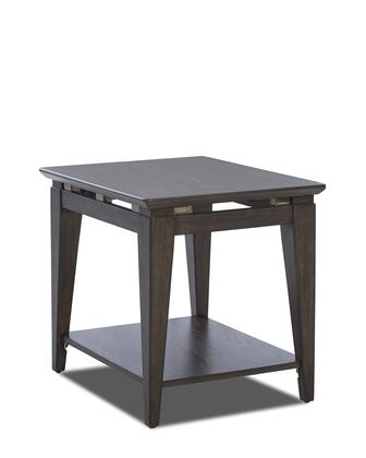 Regency Collection 645-809-ETBL 23 inch  End Table with Tapered Legs  Bottom Shelf and Floating Metal Accents in