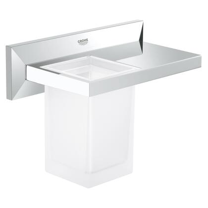 Grohe 40503000 Allure Brilliant Bathroom Shelf  With Tumbler, Starlight