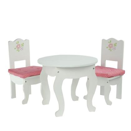 TD-0208A Teamson Kids - Little Princess 18 Doll Furniture - Table & 2 Chairs