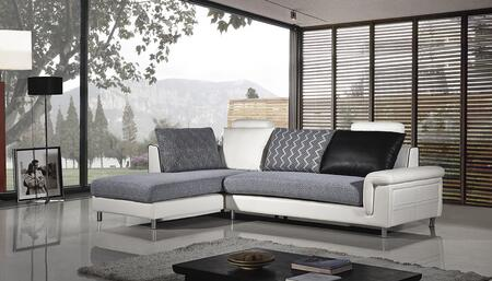AE-L343 Collection AE-L343R 2-Piece Sectional Sofa with Left Arm Facing Chaise and Right Arm Facing Sofa in Ivory and