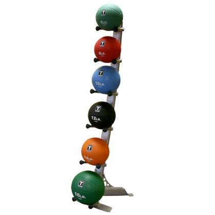 GMR10PACK Body Solid Vertical Medicine Ball Rack with Included 6 Medicine Balls  Up to 6 Medicine