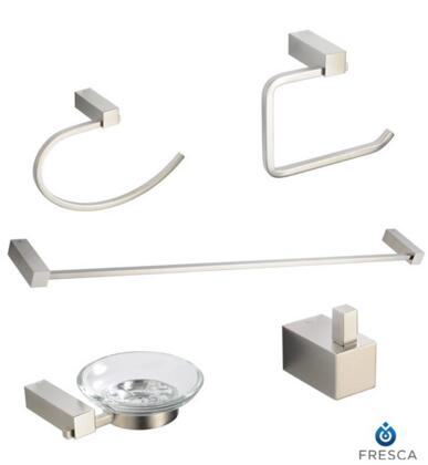FAC0400BN Fresca Ottimo 5-Piece Bathroom Accessory Set - Brushed