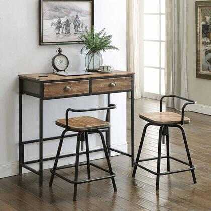 162005 Industrial Collection Urban Loft Breakfast Table with Two Swivel