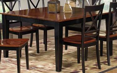 Cosmo P809-10B-10T Dining Table with Tapered Legs  18