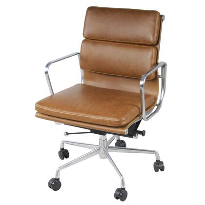 Chandel Collection 6900002-VT PU Low Back Office Chair with 360 Degree Swivel  Adjustable Seat Height and Tufted Detailing in Vintage