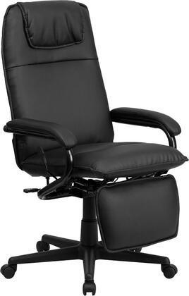 BT-70172-BK-GG High Back Black Leather Executive Reclining Office