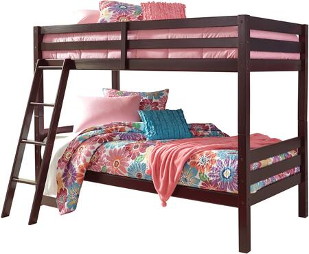 Halanton Collection B328-59 Twin Size Bunk Bed with Full Length Guardrails  Slats Included and Sturdy Wood Construction in Dark