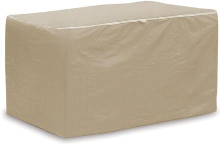 1182-TN 75 inch  Indoor Chaise Pad Storage Bag with Zippers and Heavy Duty Vinyl Fabric in Tan