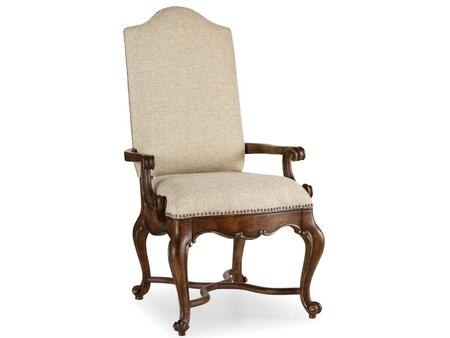 Adagio Series 5091-75500 49 inch  Traditional-Style Dining Room Upholstered Arm Chair with Cabriole Legs  Nail Head Accents and Fabric Upholstery in