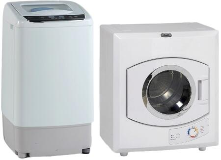 White Top Load Laundry Pair with TLW09W 17
