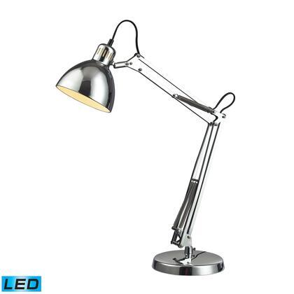 D2176-LED Ingelside LED Desk Lamp In Chrome With Chrome