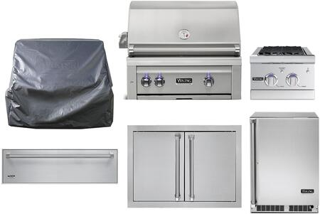 6 Piece Outdoor Kitchen Appliance Package with 30