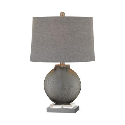 D2909 Simone 1 Light Table Lamp in Grey And Pewter